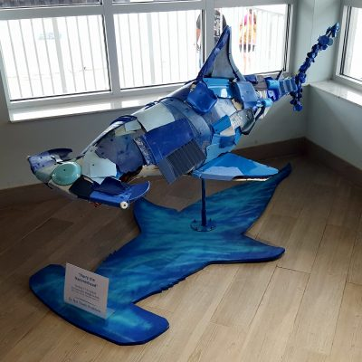 Sculpture made out of marine debris