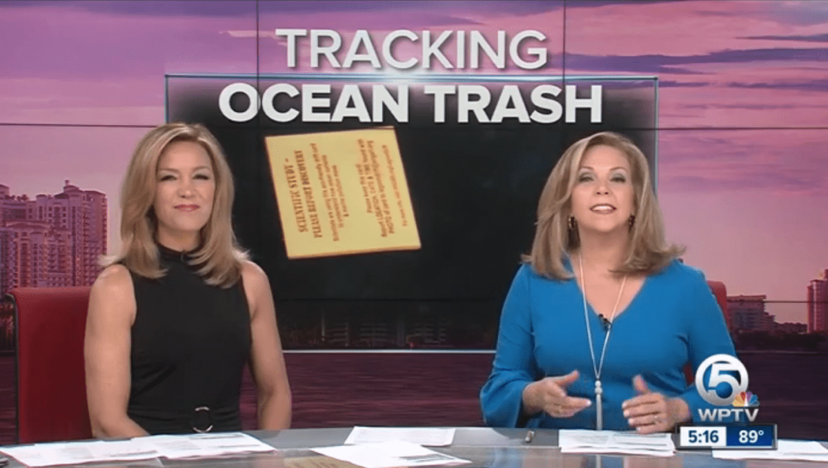 Tracking Ocean Trash With Lagoon Drift On WPTV Channel 5