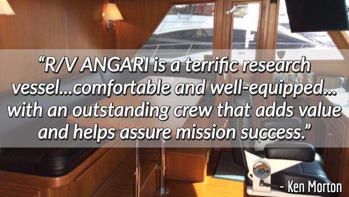 research vessel ANGARI review Ken Morton