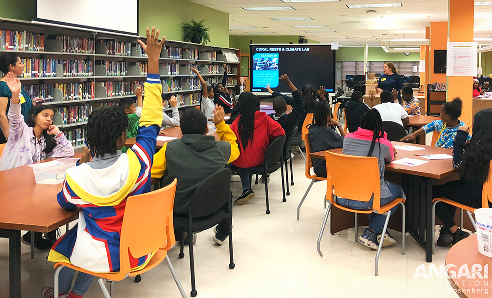 Students From Roosevelt Middle School Learn About Coral Reef Science With ANGARI Foundation