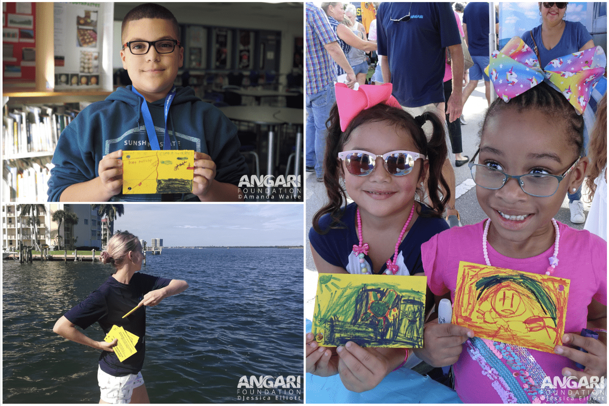 participants decorated and deployed drift cards for the Lagoon Drift marine debris citizen science experiment