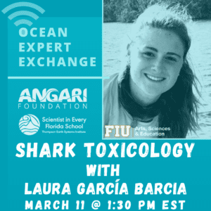 Laura Garcia Barcia shares shark toxicology research with ANGARI and students from around the world
