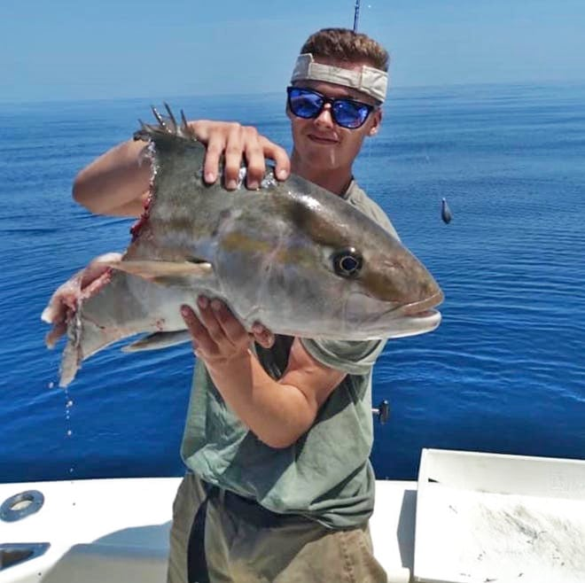 Anglers Vs. Conservationists. Shark Eaten Amberjack Palm Beach County