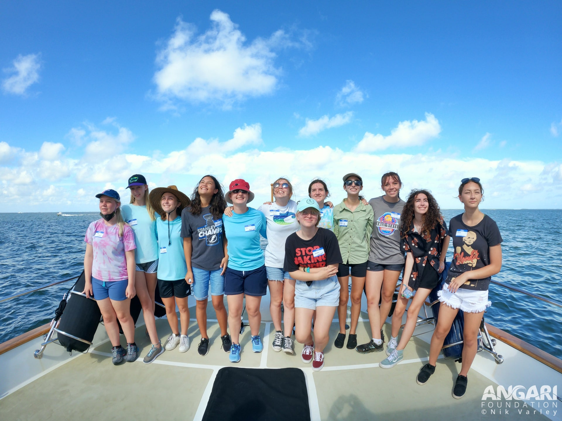 EXP 40: Young oceanographers from the July 12th OCG research cruise. PC: Nik Varley
