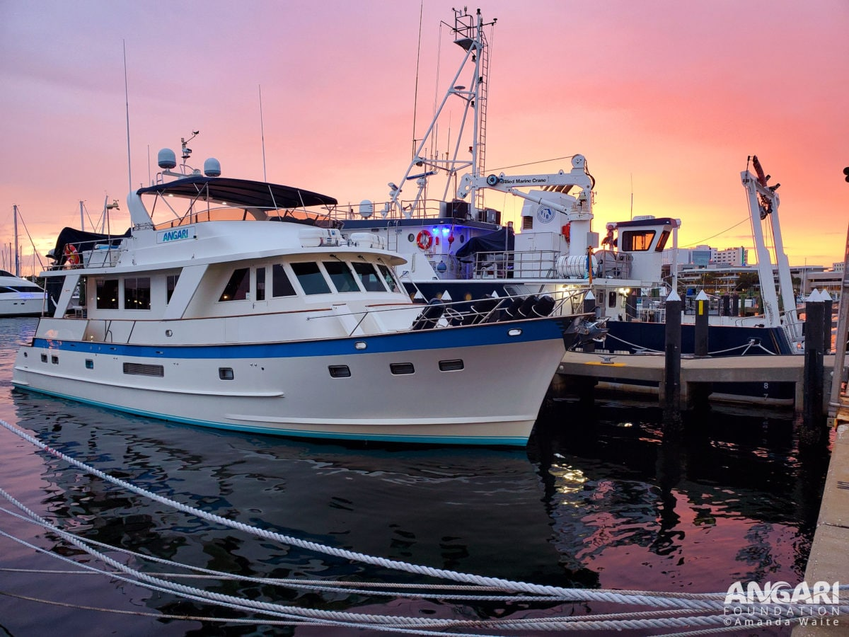 R/V ANGARI docked in St. Pete at sunset